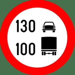 truck car speed limit